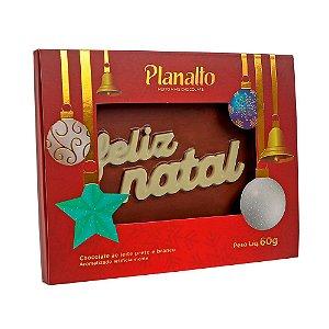 Placa Feliz Natal Chocolate ao Leite 60g