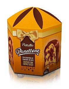 Panettone Coberto com chocolate ao leite e trufado com creme suiço - 390g
