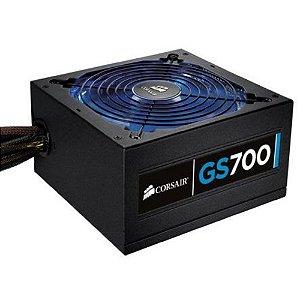 Fonte 700w Corsair Gs700 80 Plus 3 Cores Em Led