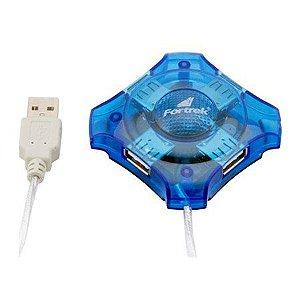 Fortrek Hub 4 Portas USB Azul HBU401 51922
