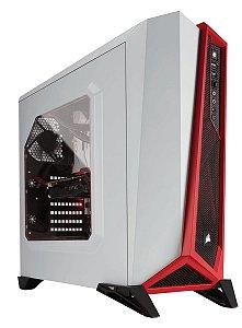 Gabinete Corsair Carbide SPEC-ALPHA Gaming (White/Red)