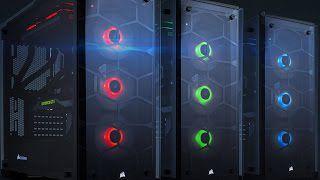 Gabinete Corsair Gamer Crystal Series 570X ATX RGB Preto com Vidro Temperado - CC-9011098-WW