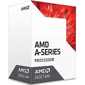Processador AMD A8 9600 Bristol Ridge, Quad-Core, Cache 2MB, 3.1GHz (3.4GHz Max Turbo), AM4 - AD9600AGABBOX