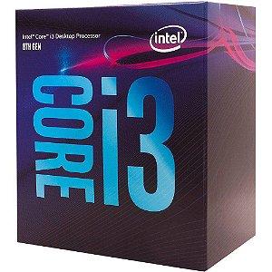Processador Intel Core i3-8100 Coffee Lake 8a Geração, Cache 6MB, 3.6GHz, LGA 1151 Intel UHD Graphics 630 - BX80684I38100