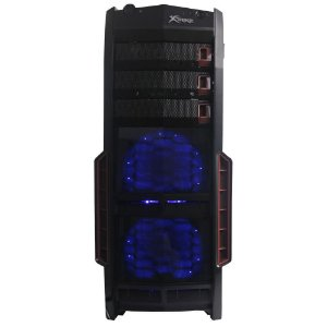 Gabinete Xtrike Gaming GIANT - PN # X02  ( Ventilador LED AZUL 1 Traseiro - 2 Frontais - 2 Superior / Cx Sem Logo )