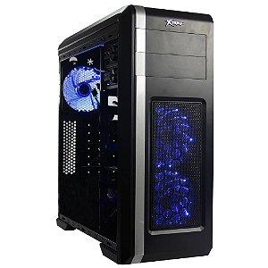 Gabinete Xtrike Gaming WIZARD - PN # X01 ( Ventilador LED AZUL 1 Traseiro - 2 Frontais / Cx Sem Logo )