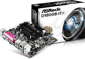 Placa Mae ASRock Bay Trail+Cel Dual D1800B (Mini-ITX/ HDMI)