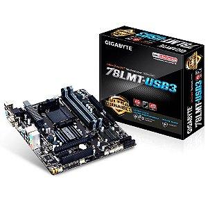 Placa-Mãe GIGABYTE p/ AMD AM3+ mATX GA-78LMT-USB3, DDR3, HDMI, VGA, USB 3.0, RAID, IDE