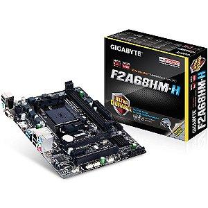 Placa-Mãe GIGABYTE p/ AMD FM2+ mATX GA-F2A68HM-H DDR3