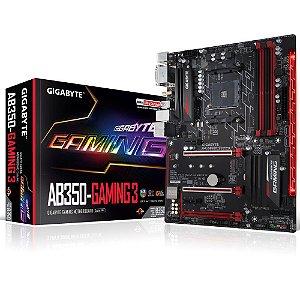 Placa-Mãe GIGABYTE p/ AMD AM4 ATX GA-AB350-GAMING 3 DDR4