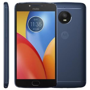 "Smartphone Motorola Moto E4 Dual SIM 16GB Tela HD 5.0"" Camera 8MP/5MP e OS Android 7.1.1 AZUL"