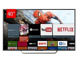 """TV LED Sony 40"""" W655D Smart, FHD, XRealityPRO, Super Fina, Proteção contra poeira e umidade"""