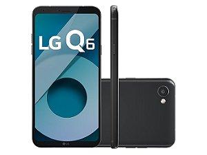 """Smartphone Lg Q6, Android 7.0, Dual Chip, Processador Octa-Core 1.4 GHz, Câmera Frontal 5MP e Traseira 13 MP, Tela 5.5"""", Memória interna 32 GB,Memória externa até 2TB, Memória RAM de 3GB, Rede 4G + WiFi - PRETO"""