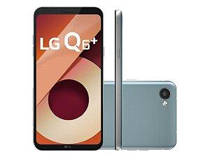 """Smartphone Lg Q6 PLUS, Android 7.0, Dual Chip, Processador Octa-Core 1.4 GHz, Câmera Frontal 5MP e Traseira 13 MP, Tela 5.5"""", Memória interna 64 GB,Memória externa até 2TB, Memória RAM de 4GB, Rede 4G + WiFi."""
