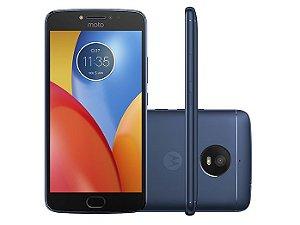 Smartphone Motorola Moto E Plus XT1773, Android 7.1, Dual chip, Processador Quad Core 1.3 GHz, Câmera traseira 13MP e frontal de 5MP, Tela 5.5'', Memória interna 16GB expansível até 128 GB, 4G Azul Safira