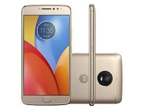 Smartphone Motorola Moto E Plus XT1773, Android 7.1, Dual chip, Processador Quad Core 1.3 GHz, Câmera traseira 13MP e frontal de 5MP, Tela 5.5'', Memória interna 16GB expansível até 128 GB, 4G Ouro