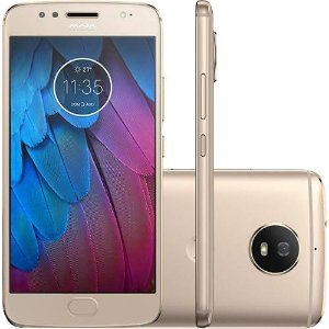 "Smartphone Motorola Moto G 5S Dual Chip Android 7.1.1 Nougat Tela 5.2"" Snapdragon 430 32GB 4G Câmera 16MP - Dourado"