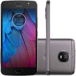 "Smartphone Motorola Moto G 5S Dual Chip Android 7.1.1 Nougat Tela 5.2"" Snapdragon 430 32GB 4G Câmera 16MP - Platinum"
