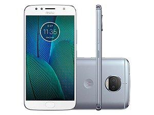 Smartphone Motorola Moto G5S Plus XT1802, Android 7.1, TV DIGITAL,Dual chip, Processador Octa Core 2.0GHz, Câmera traseira Dual - 13 MP + 13 MP e frontal de 8MP, Tela 5.5'', Memória interna 32GB expansível até 128GB, 4G Azul Topázio