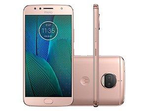 Smartphone Motorola Moto G5S Plus XT1802, Android 7.1, TV DIGITAL,Dual chip, Processador Octa Core 2.0GHz, Câmera traseira Dual - 13 MP + 13 MP e frontal de 8MP, Tela 5.5'', Memória interna 32GB expansível até 128GB, 4G Ouro Rosê