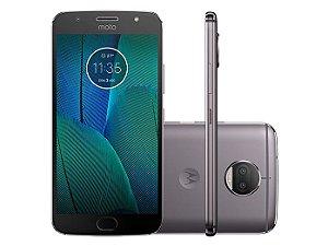 Smartphone Motorola Moto G5S Plus XT1802, Android 7.1, TV DIGITAL,Dual chip, Processador Octa Core 2.0GHz, Câmera traseira Dual - 13 MP + 13 MP e frontal de 8MP, Tela 5.5'', Memória interna 32GB expansível até 128GB, 4G Platinum