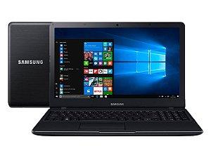 Notebook Samsung Essentials E21, Intel® Celeron® 3865U , Windows 10, 4GB, 500GB, Tela 15.6'' LED Full HD Preto