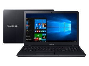 Notebook Samsung Essentials E34, Intel® Core™ i3 6006U, Windows 10, 4GB, 1TB, Tela 15.6'' LED Full HD Preto