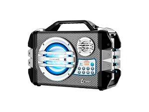 Caixa Amplificada Lenoxx CA305 100W, Bluetooth, USB, SD Card, Entrada Para Microfone, Bateria Interna