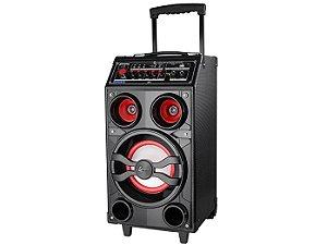 Caixa Amplificada Lenoxx CA309, USB, SD, MP3, AM/FM, Bluetooth, Karaokê, Entrada para Guitarra, Microfone e Fone de ouvido