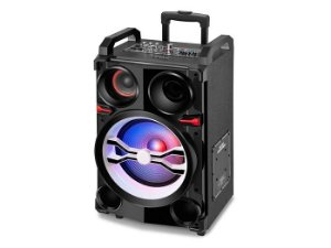 Caixa Amplificada Mondial CM-06 300W RMS, USB, Microfone S/Fio, MP3, Rádio FM