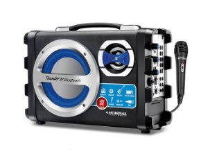 Caixa Amplificada Mondial MCO04, 40W, USB, Microfone C/Fio, Bluetooth, Cartão SD