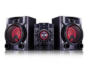 Mini System LG CM5660 620W, Duplo USB, MP3, AM/FM, Bluetooth, Karaokê, Função DJ e Repeat