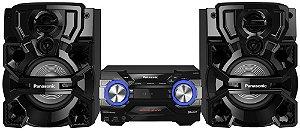 Mini System Panasonic AKX-660, 1.400W RMS, Bluetooth, 4GB de memória interna, DJ Jukebox, 2 Entradas USB