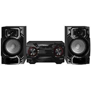 Mini System Panasonic Sc-Akx220lb-K 450w Duplo Usb E Bluetooth Bivolt, Preto Bivolt