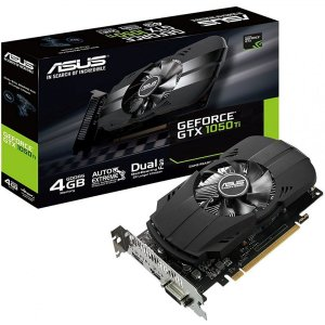 Placa de Vídeo VGA NVIDIA ASUS GEFORCE GTX 1050 TI 4GB GDDR5 - PH-GTX1050TI-4G