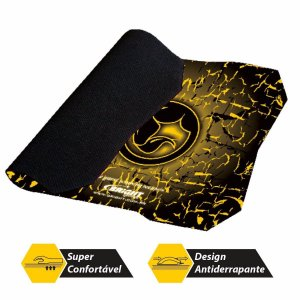 Mouse pad Bright Gamer Preto/amarelo 240x240x3mm 0429