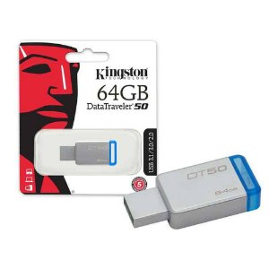 Pen Drive DataTraveler 50 USB 3.0 64Gb Azul - PN # DT50/64GB