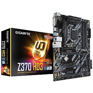 Placa Mae Gigabyte Z370 HD3 (1151-8ª Ger/DDR4/PCI-E/ATX) - PN # Z370 HD3