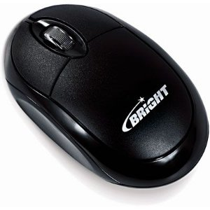 MOUSE USB PRETO BRIGHT