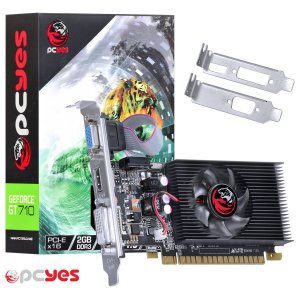 PLACA DE VÍDEO GEFORCE NVIDIA GT 710 2GB DDR3 64 BITS LOW PROFILE  - N71T2GD364LP