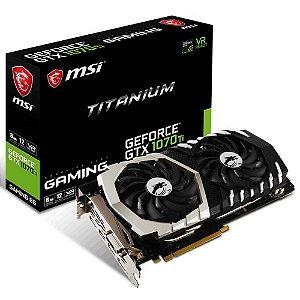 Placa de Vídeo VGA NVIDIA MSI GEFORCE GTX 1070 TI Titanium 8G