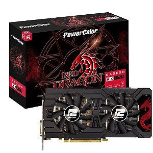 Placa de Vídeo VGA AMD PowerColor RADEON RX 570 4GB GDDR5 AXRX 570 4GBD5-3DHD/OC