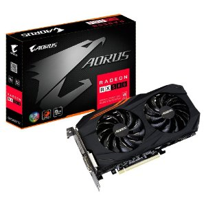 Placa de vídeo VGA AMD GIGABYTE RADEON RX 580 8GB AORUS DDR5 GV-RX580AORUS-8GD