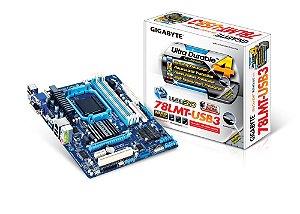 Placa Mae Gigabyte 78LMT-USB3  ( AM3+/ DDR3/ DVI-D/ HDMI ) - PN # GA-78LMT-USB3