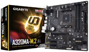 Placa Mae Gigabyte A320MA-M.2(AM4/DDR4/VGA/DVI-D/HDMI/M.2/mATX) - PN # GA-A320MA-M.2