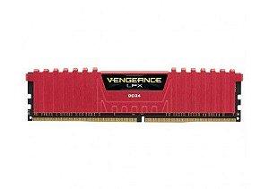 MEMORIA CORSAIR VENGEANCE LPX VERMELHA 8GB (1X8) 2400MHZ DDR4, CMK8GX4M1A2400C14R