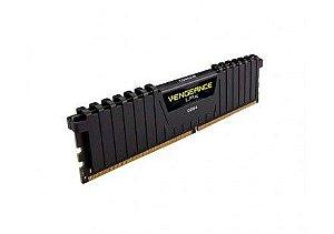 Memória Corsair Vengeance LPX 8GB 2400Mhz DDR4 C14 Black - CMK8GX4M1D2400C14