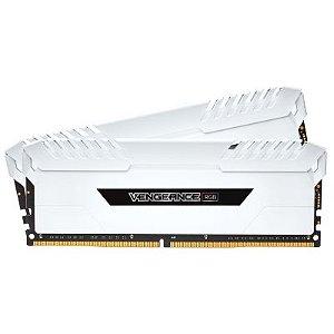 MEMÓRIA DDR4 CORSAIR VENGEANCE LED RGB 16GB (2X8GB) 3000MHZ WHITE CMR16GX4M2C3000C15W