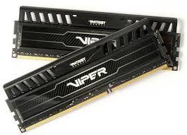 Memória Viper 3 8GB (2x4GB) DDR3 1600Mhz Preto PV38G160C9K