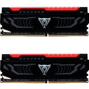 Memória Patriot Viper LED Vermelho 16GB(2x 8GB)2666MHz DDR4 DIMM - PN # PVLR416G266C5K